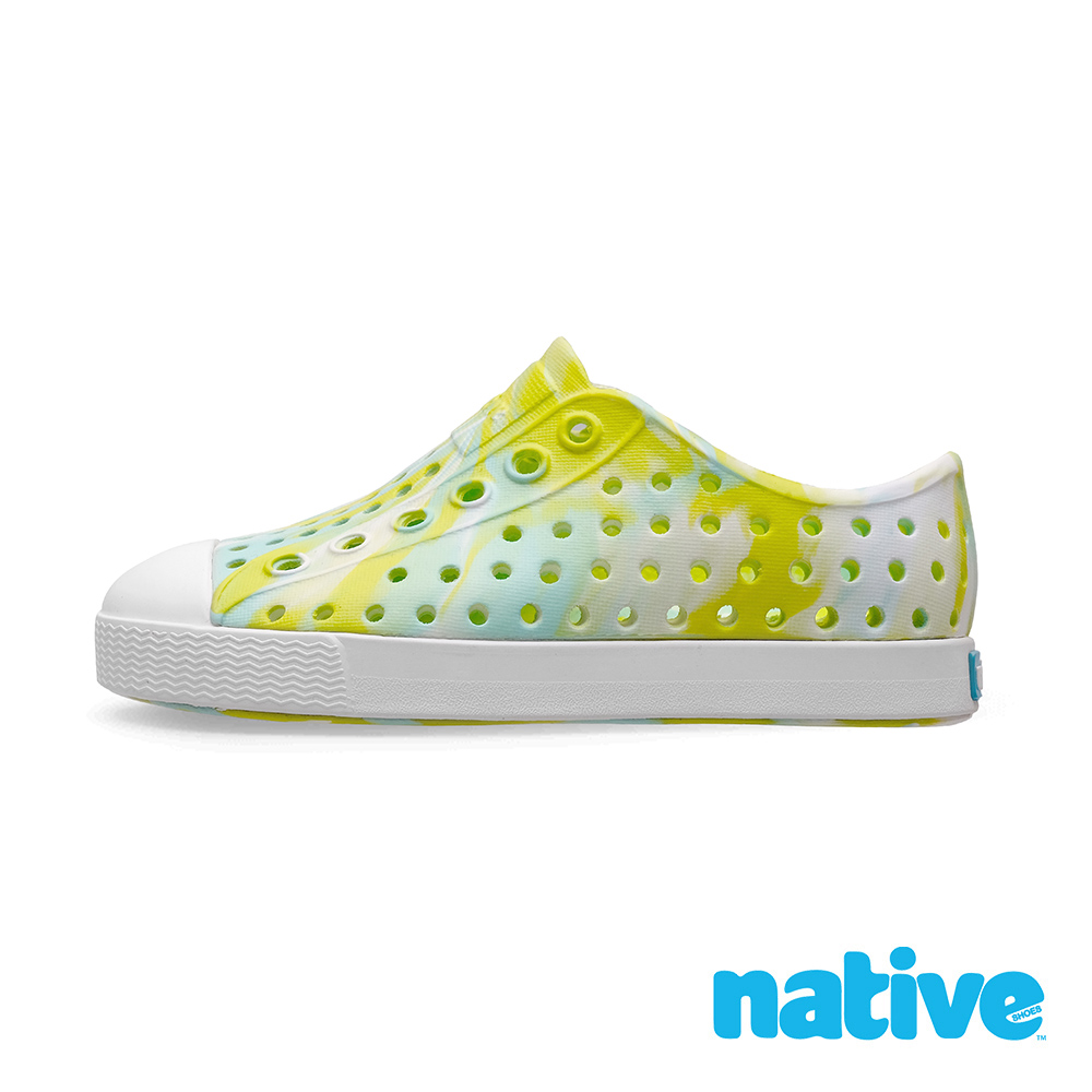 native 大童鞋 JEFFERSON 小奶油頭鞋-螢光綠