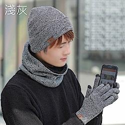 梨花HaNA 溫柔入冬親膚手感毛帽手套脖圍三件套組合