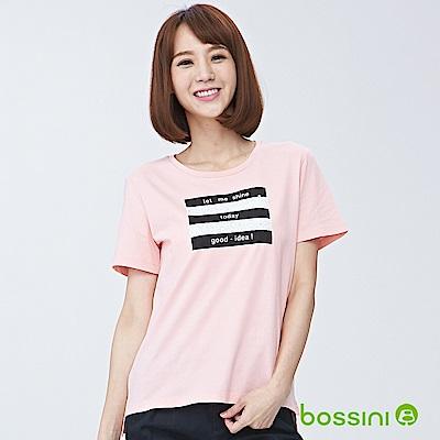 bossini女裝-圓領短袖亮片上衣02嫩粉