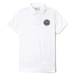麋鹿 AF A&F 經典麋鹿刺繡標誌短袖Polo衫-白色