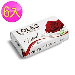 LOLES草本玫瑰護膚皂150g(6入組)
