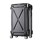 日本LEGEND WALKER 6304-61-24吋 防潑水拉鍊行李箱 消光黑
