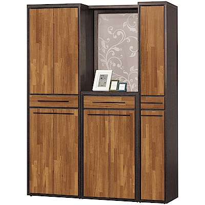 文創集 杜奧爾時尚5尺多功能雙面隔間櫃/鞋櫃組合-150x38x195cm免組
