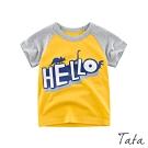 兒童 HELLO恐龍印花上衣 共二色 TATA KIDS