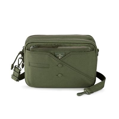 PORTER - 紳士品味CUFF(C)經典雙層斜背包 - 綠