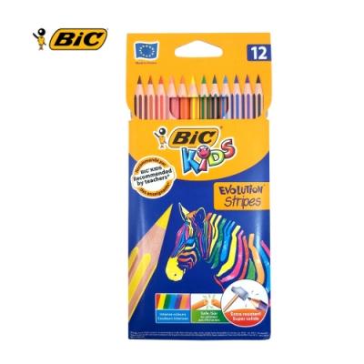 BIC 12雙色鉛筆-斑馬組