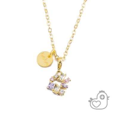 【彩糖鑽工坊】彩糖貝貝  彩色鋯石項鍊 親子&閨蜜 彩糖貝貝繽紛寶石系列