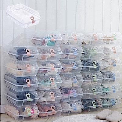 E-dot 多功能透明水晶收納鞋盒6入組(3色選)