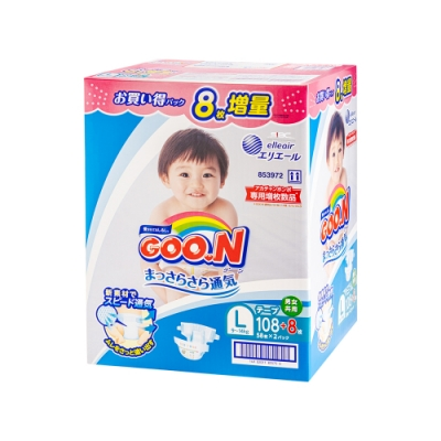 GOO.N日本大王 黏貼紙尿褲 境內彩盒版 L 58片x2包/箱