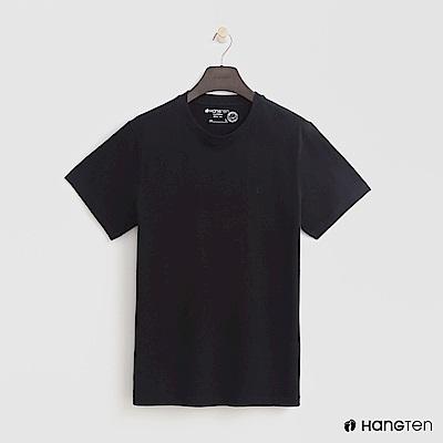 Hang Ten - 男裝 - 有機棉-圓領純色T恤 - 黑