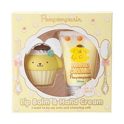 Sanrio 布丁狗甜點系香氛保濕造型護唇膏&護手霜禮盒組(柑橘香)