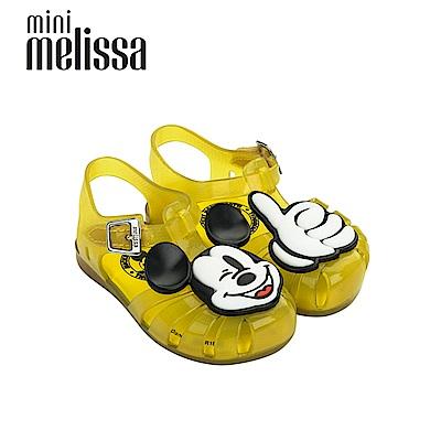 Melissa X Mickey 米奇按個讚寶寶鞋-黃色