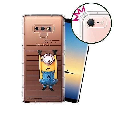 官方授權 小小兵 Samsung Galaxy Note9 空壓安全手機殼(筆記本)