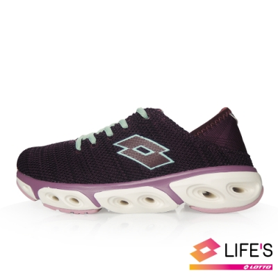 LOTTO 義大利 女 AIR FLOW 4.0 緩震健走鞋 (棗紅)