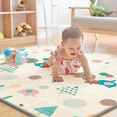 【索樂生活】雙面折疊遊戲爬行墊.寶寶安全環保PE PVC XPE防護巧拼地墊