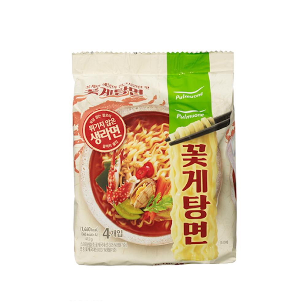 【韓味不二】pulmuone 花蟹炒碼麵(103gx4入)