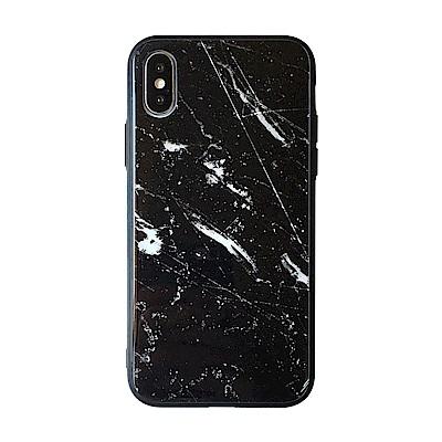【TOYSELECT】iPhone X/Xs 大理石玻璃背板手機殼