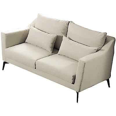 品家居 瑟尼北歐風緹花布二人座沙發椅-158x102x93cm免組