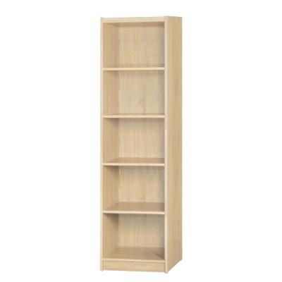 【綠活居】基斯坦   現代1.5尺五格書櫃/收納櫃(三色可選)-46x45x181.5cm免組