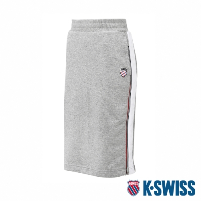 K-SWISS Court Sweat Skirt修身及膝裙-女-灰