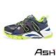 ASH-FLASH時尚拼接撞色厚底增高老爹鞋-黑黃 product thumbnail 1