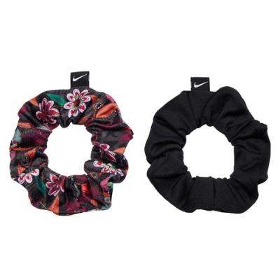 Nike 髮圈 Gathered Hair Ties 女款 鬆緊帶 運動 健身 重訓 勾勾 一組二入 黑 粉 N1002455934OS