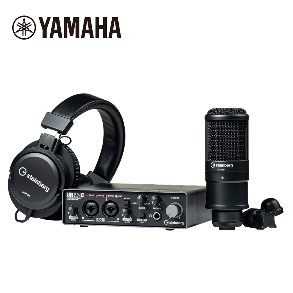 YAMAHA Steinberg UR22C Studio Pack 錄音介面組
