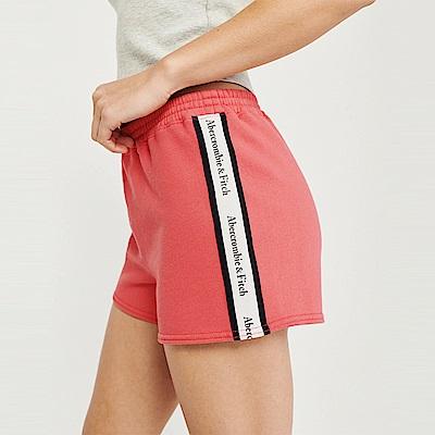 麋鹿 AF A&F 經典標誌設計短棉褲(女)-粉紅色