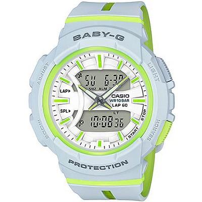 BABY-G BGA-240慢跑運動活力動感雙顯錶-白(BGA-240L-7A)/29mm