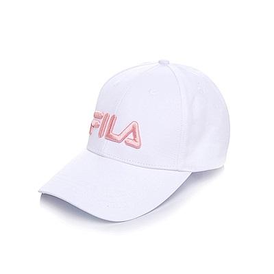 FILA  立體電繡板帽-淡粉 HTS-5007-LP