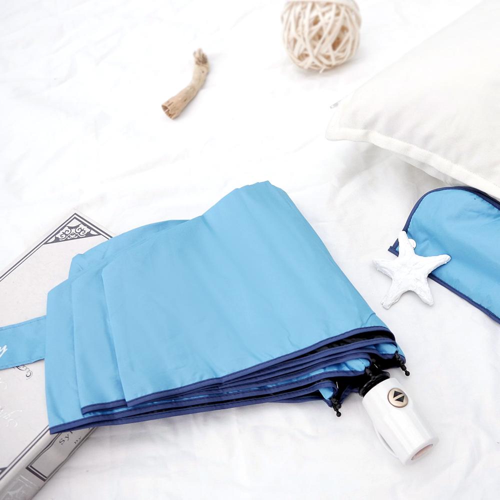 好傘王 自動傘系-輕白限量款瑜珈自動傘(湖水藍色)