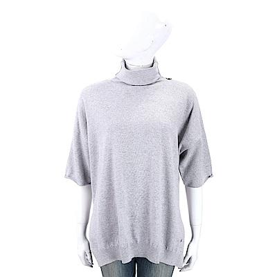 Andre Maurice 喀什米爾灰色高領短袖羊毛衫