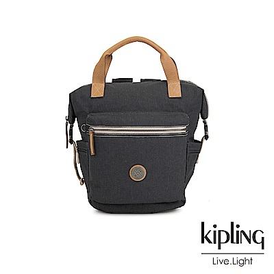 Kipling 城市探索霧灰雙側插扣手提後背兩用包-TSUKI S-EDGELAND系列