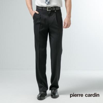 Pierre Cardin皮爾卡登 男裝 緹花雙褶西裝褲-黑色(5197841-99)