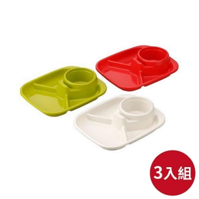 日本INOMATA BBQ方型餐盤三入