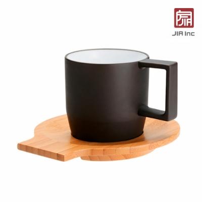 JIA Inc. 品家家品 紫泥系列 卡布奇諾咖啡杯170ml(附竹製杯盤)