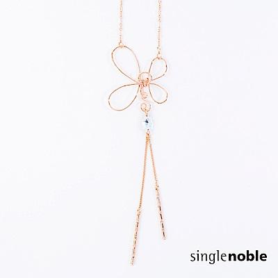獨身貴族 細緻典雅花朵造型繞線項鍊(1色)