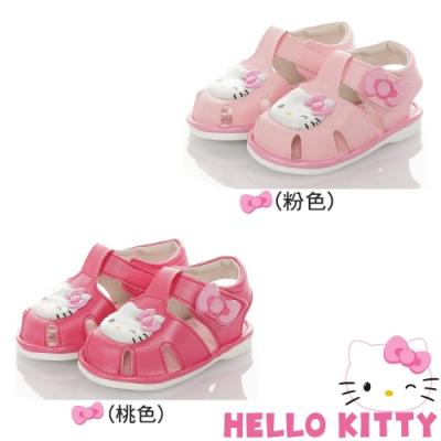 HelloKitty童鞋 輕量減壓吸震寶寶學步嗶嗶涼鞋 粉.桃