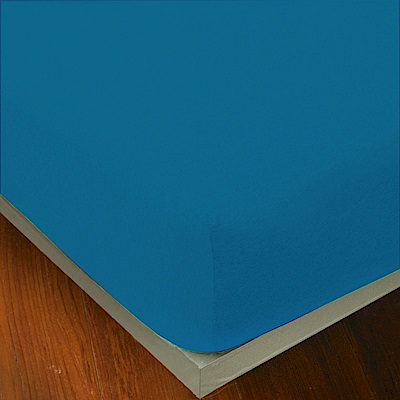 Yvonne Collection 雙人純棉素面床包-中藍