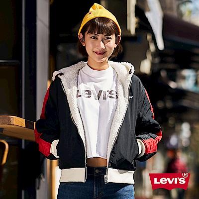 Levis 女款 雙面穿飛行外套 色塊拼接 Sherpa 棉花絨 CNY限量系列