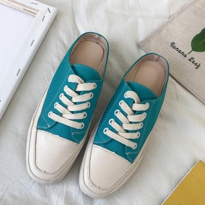 韓國KW美鞋館 經典簡約休閒網紅穆勒鞋 藍