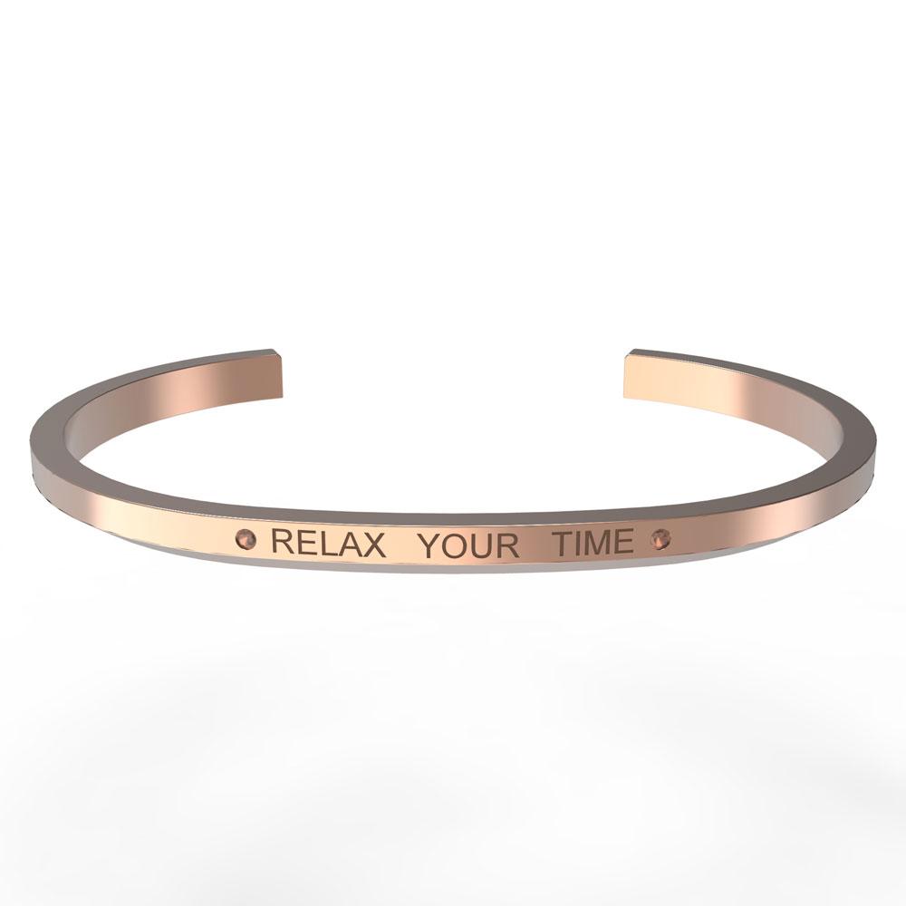RELAX TIME Shine系列手環 玫瑰金色