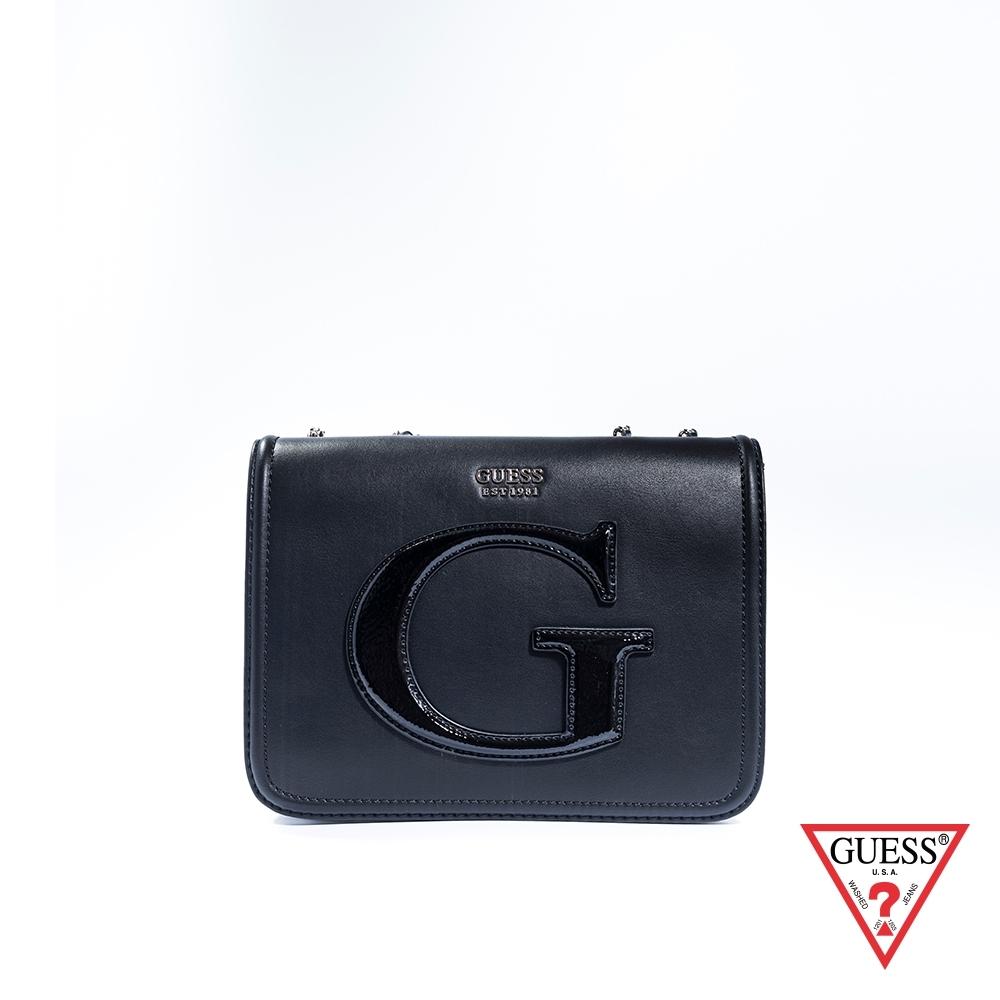 GUESS-女包-都會質感鍊條肩背包-黑 原價3090