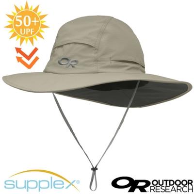 Outdoor Research 超輕多孔式防曬抗UV透氣大盤帽子(UPF 50+).圓盤帽_卡其