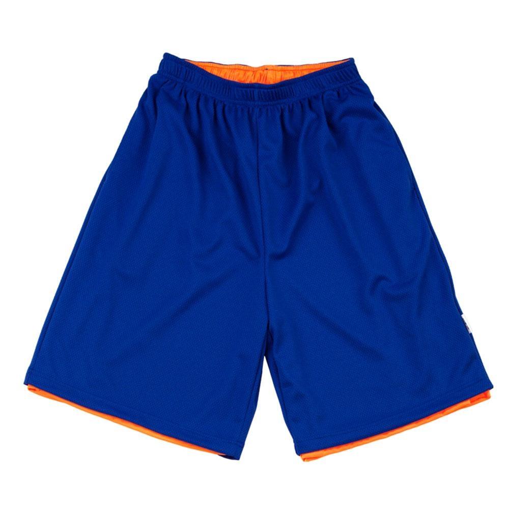 【FIVE UP】男款雙面穿吸排籃球褲-藍
