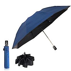雙龍TDN 反向自動開收黑膠抗UV傘 -海軍藍
