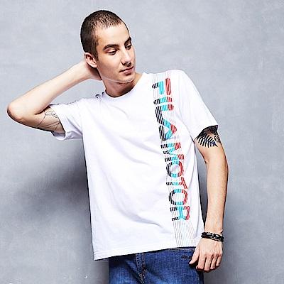 FILA 男款短袖圓領T恤-白色 1TET-1471-WT