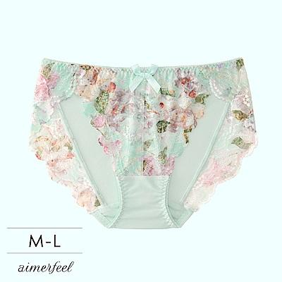 aimerfeel 單品內褲 Jolie Flower交叉蕾絲三角內褲 單品內褲-605121-ME