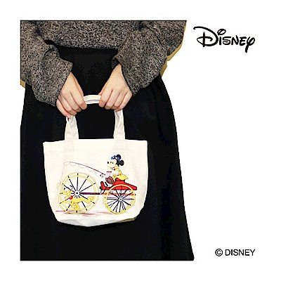 《SHO-BI》迪士尼米奇好朋友系列帆布迷你提袋(布魯托&米奇)
