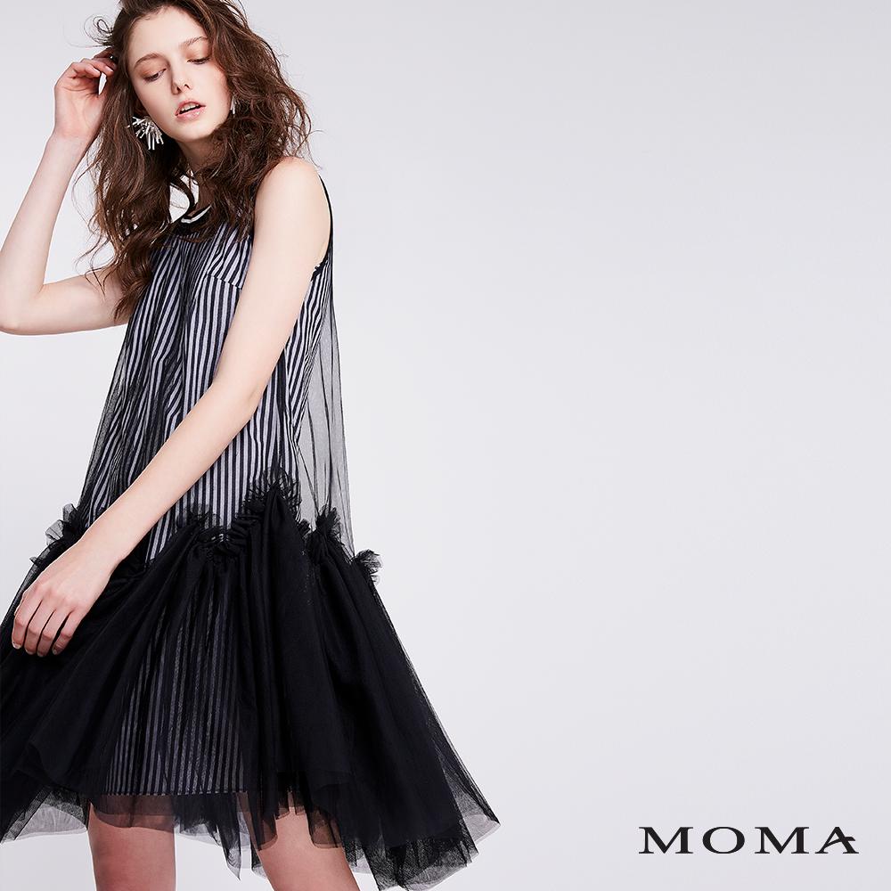 MOMA 兩件式條紋紗裙洋裝